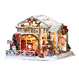 Wood.L Kit De Casa De Muñecas DIY, Exquisita Miniatura De Casa De Muñecas con Muebles, a Escala 1:24 Set De Casa De Muñecas De Navidad con Nieve para Regalar a Amigos, Amantes Y Familias.