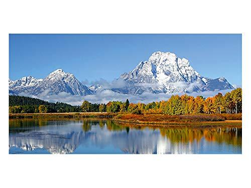 GRAZDesign Sichtschutzfolie Berg - See mit Wald, Bedruckte Fensterfolie, Glasdekorfolie als Sichtschutz, 80x57cm