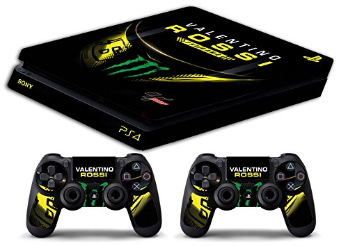 Skin Ps4 SLIM - VALENTINO ROSSI THE GAME THE DOCTOR 46 - limited edition DECAL COVER Schutzhüllen Faceplates playstation 4 SONY BUNDLE