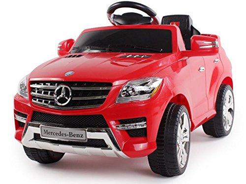 Mondial Toys Auto ELETTRICA per Bambini 6V 2 Motori con Telecomando 2.4G Mercedes Benz ML 350 SUV Rossa