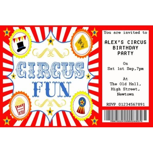 Halloween Party Invitations 5 x Personalised Prints large design choice