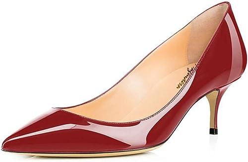 Maguidern , Sandales Compensées Femme - Marron - Rouge vin, 43