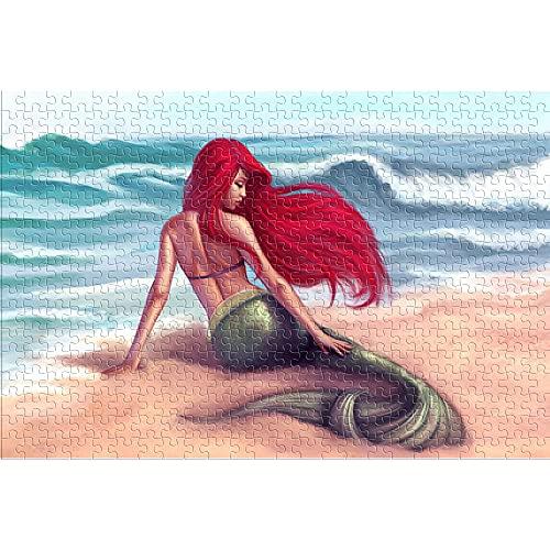 CHDBB The Little Mermaid Ariel Puzzle de 1000 Piezas para Adultos Animated Film Juegos de Rompecabezas Brain ChallengeRompecabezas clásico para Adolescentes Adultos Divertidos Rompecabezas 75X50cm