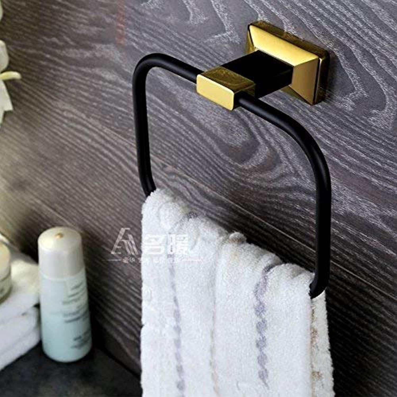 Towel Rack gold and Black Solid Stainless Steel Bathroom Hardware Accessory Bathroom Shelf Towel Rack Bathroom Towel Shelf