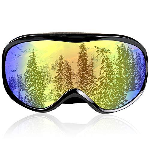 JTENG Gafas de esquí, Gafas de Snowboard con tecnología de Doble Capa, protección UV OTG, Casco Compatible con antiniebla, Gafas de esquí para esquí, Moto, Bicicleta, Patinaje