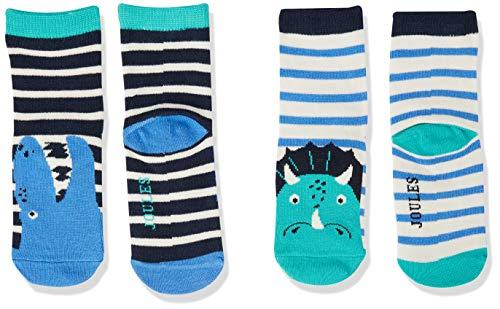 Joules Neat Feet Calcetines Informales, Multi Dino, 6-12m para Bebés
