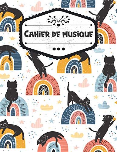 Cahier de musique: Carnet de Musique Avec Portée, Cahier de Partitions, Grand Format