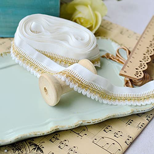 10meter lace fine Elastic Webbing Braided Gold Thread lace DIY Cheongsam Clothing Clothes Accessories lace.3036