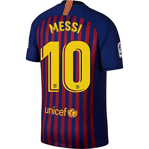 NIKE Barcelona Home Messi 10 Jersey 2018/2019 (Official Pro Size Printing) - M