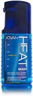 Jovan Heat Man By Coty Fired Up Cologne Body Spray, 8.4 Fluid Ounce