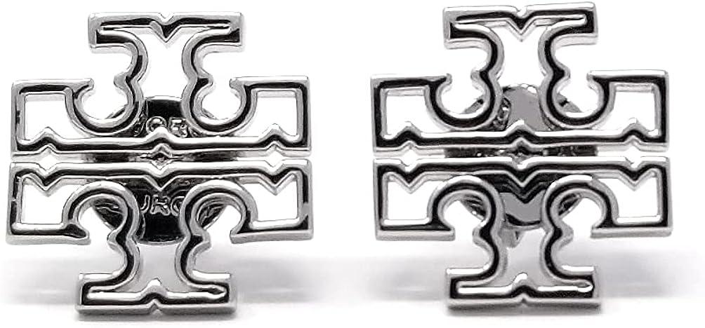 Tory Burch Women's Britten Logo Stud Earrings
