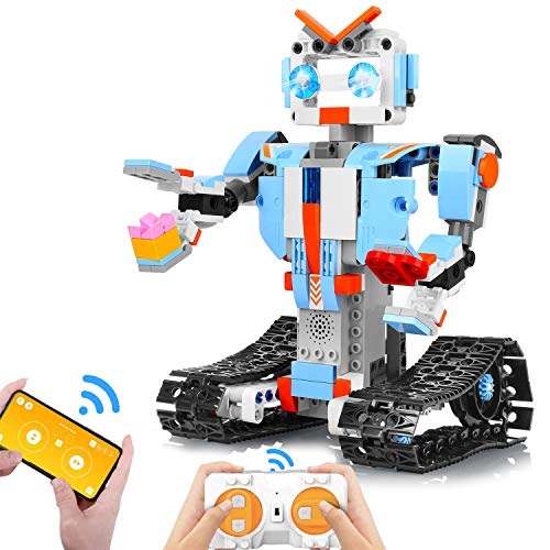 AOKESI Building Block Robot Kits for Kids, Remote & APP Control Robot Snap Together Engineering Kits STEM Building Toys Best Gift for 6, 7, 8 and 9+Year Old Boys and Girls