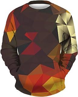 Leezeshaw Unisex 3D Printed Pullover Kangaroo Pocket Sweatshirts Novelty Graphic Long Sleeve Shirts Jumper Sportswear