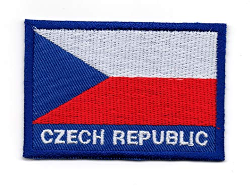 Vlag van Tsjechië IJzer op patch Naai op Geborduurde Badge toegepast