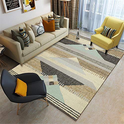 Kunsen mesas Comedor Grandes alfombras Salon Alfombra marrón de la Sala de Estar Se Puede Lavar la Resistencia al Terciopelo Corta. Decoracion Balcon Exterior 80X160CM 2ft 7.5' X5ft 3'
