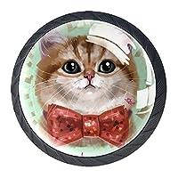 引き出しハンドルは丸いクリスタルガラスを引っ張る キャビネットノブキッチンキャビネットハンドル,猫のカエデ