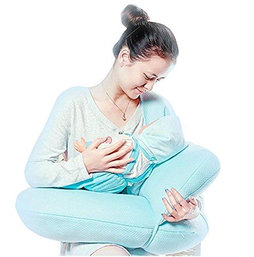 Breast pillow Allaitement Maternel Allaitement Maternel Maturité Back Support Coussin Multifonctionnel pour bébé à Base de Poitrine U-Type (Bleu)
