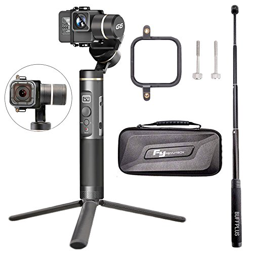 Hohem 3Axis Gimbal Alluminum Stabilizer w/Plate for Smartphone Up to 6quot Like iPhone 7 Plus/6 Plus and Gopro Wireless Control Vertical Shooting Panorama Mode Tracking Zoom in/Out BuffBlack