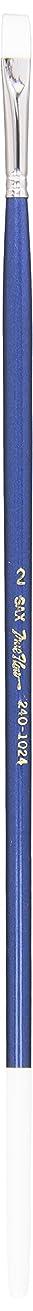 Sax 444986 Bristilina Konex Bright Paint Brush, Long Enameled Hardwood Handle, Size 2, White
