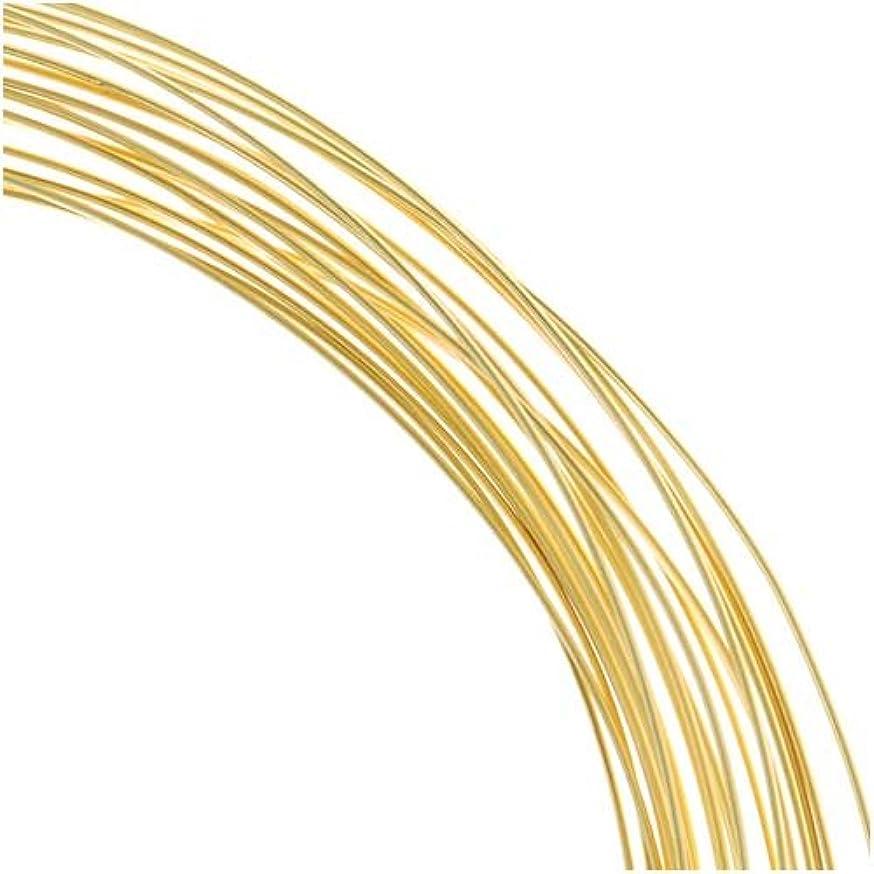 Gold Plated Half Round Craft Bead Wire 21Ga (12Ft)