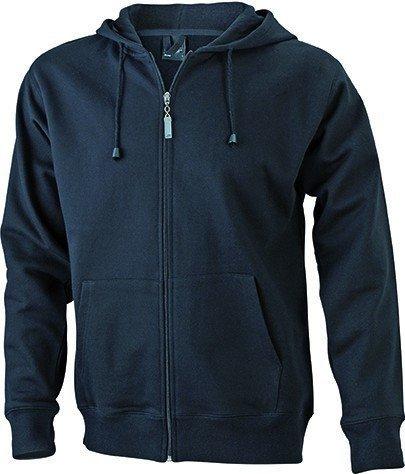 JN042-1 Men´s Hooded Jacke Sweatjacke Kapuze Sweatshirt, Farbe:black;Herrengrößen:XL XL,Black by ./.