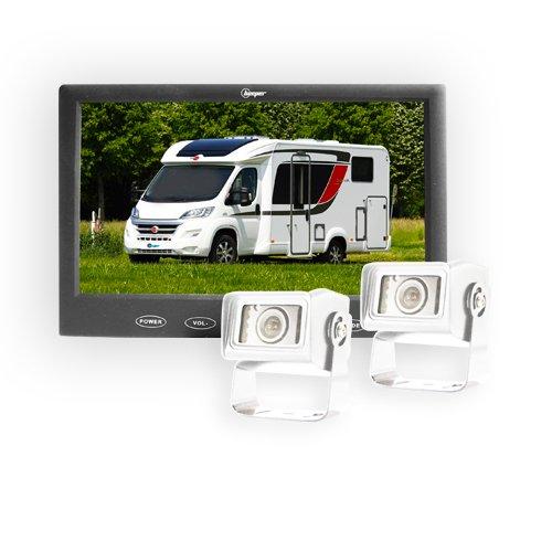 Beeper recul Camping-Car 2 caméras Blanche RWEC110X-N2, Blanc