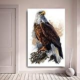 KWzEQ Imprimir en Lienzo Decoración del hogar de la Pared del águila Calva para el Cartel de la Sala de estar50x75cmPintura sin Marco