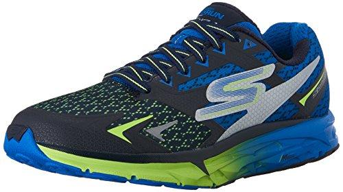Skechers Go Run Forza, Zapatillas de Deporte Exterior para Hombre, Azul (Nvlm), 41 EU