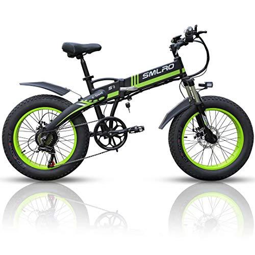"""20 Zoll Elektrofahrrad mit 1000 W 48 V 14Ah Samsung Lithiumbatterie Faltbares Elektrofahrrad, 4\"""" Fettreifen Klapprad E-Bike für Erwachsene, Herren Damen."""