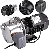 Happybuy Shallow Well Jet Pump with Pressure Switch 1HP Jet Water Pump 148 ft Stainless Steel Jet Pump to Supply Fresh Well Water to Residential Homes Farms Cabins
