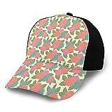 Unisex en blanco lavado bajo perfil algodón papá sombrero gorra de béisbol colorido estilo retro flores naturaleza inspirado adorno ilustración sobre fondo suave