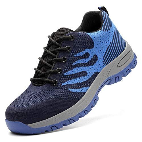 Zapatos de Trabajo Calzado de Industrial y,Tenis de seguridad con suela antideslizante, dieléctrico, ligero, flexible, aunque coloque una talonera para cityor comodidad! ⭐