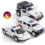 Top Race Coche de Policía Juguete, Coche de juguete con batería para...