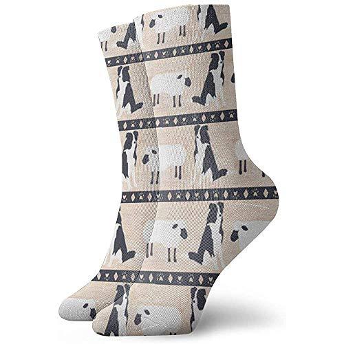Dydan Tne Crew Socks Primitive Border Collie Ankle Socks Robe Courte Chaussettes de Compression pour Femmes Hommes