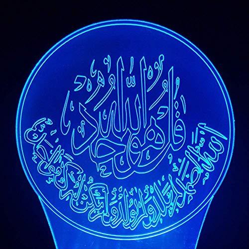 Jahre Junge Illusionslampe 3d led nachtlicht 7 farben farbwechsel tisch lampor nachtbeleuchtung geschenk muhammed licht