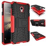tinyue® Handyhülle für Lenovo Vibe P1 Hülle,Hyun-Muster mit Ständerprotektor PC+TPU Doppelstoßstange Anti-Kratz-Handyhülle Handykasten im Freien, Rot