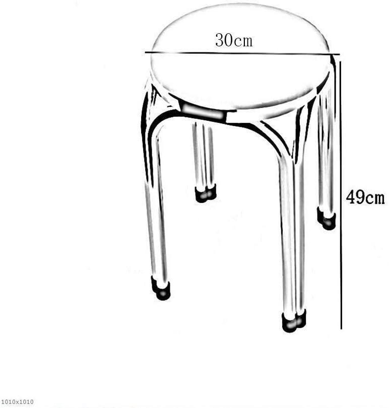 ZWH-Chaise de Salle à Manger Chaises de Bureau Tabouret 2 Pack- de Luxe en Tissu rembourré empilables tabourets, Maison à Manger Tabouret Meubles légers (Color : #3) #10