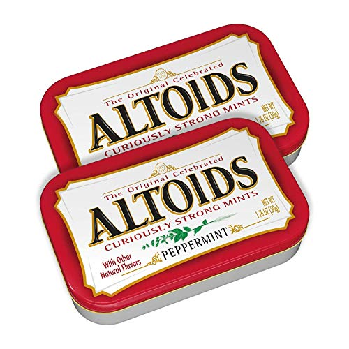 ALTOIDS Curiously Strong Peppermint Mints | Pocket-Sized Tins | 1.76 oz (2-Pack)