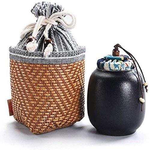 Cremation Urn Funeral Urns Memorial Ashes Urn Sealed Ceramic Coffin Adult Pet Urns Suitable for Placing in The Living Room/Home/Kitchen 2020 (Color : Black)