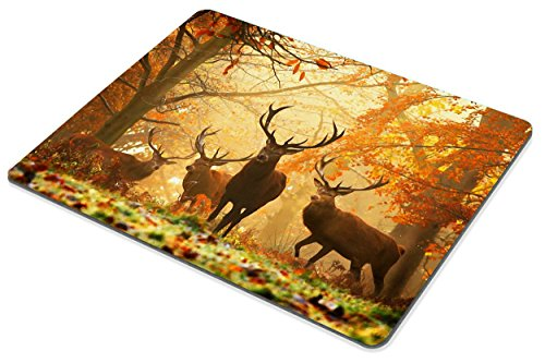 Smooffly Wildlife Gaming Mouse Pad,Milu Deer Mouse Pad Photo #5