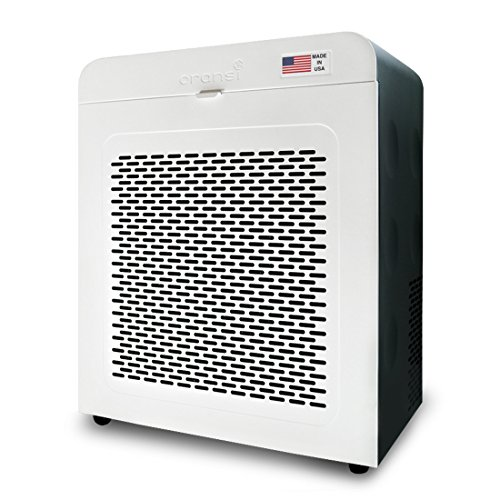 Oransi EJ120 Hepa Air Purifier with Carbon Filter, White/Black