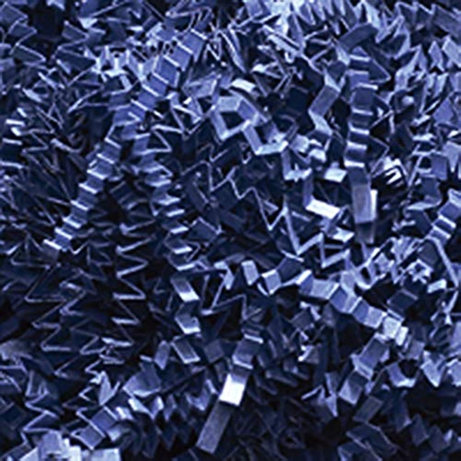 Crinkle Cut Paper Shred Filler (1 LB) for Gift Wrapping & Basket Filling (Navy)