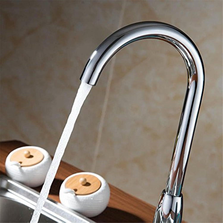 MNLMJ Moderne einfache kupferne heie und kalte Wasserhhne Küchenarmatur Küchenarmatur heie und kalte kupferne Wsche Wschepool Wasserhahn kann gedreht Werden Retro-Universal-Waschbecken