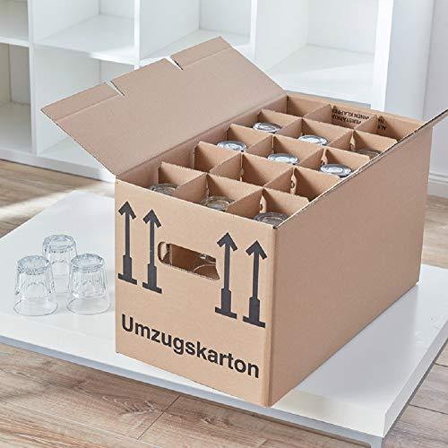 150 Gläserkartons mit 30/15 Fächern Flaschenkartons für Umzug Verpackung Umzugskartons - 3