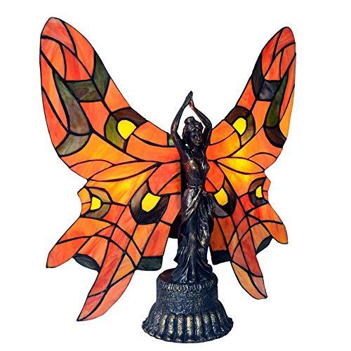 BJLWTQ Creativo estilo Tiffany lámpara/luz hecha a mano de la decoración del arte/de vidrio decorativo Noche 44 * 46cm simple romántica