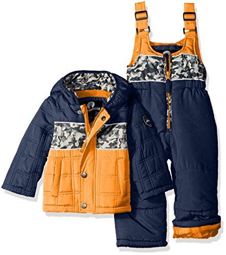 Weatherproof Traje de Nieve Impermeable para bebé, Black/Black C, 12 Meses