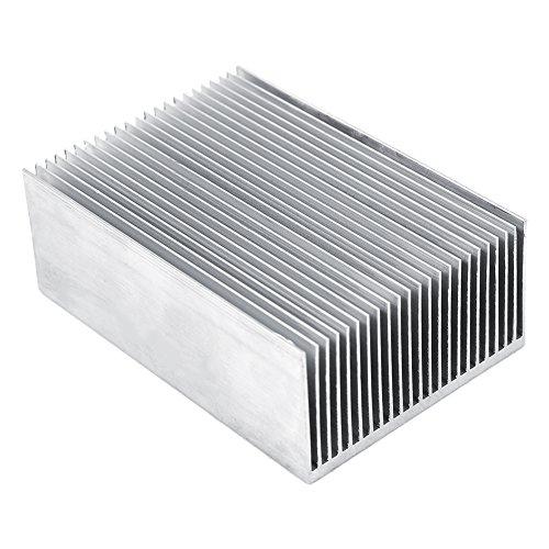Heizkörper Lamellen aus Aluminium, Transistorverstärker für leistungsstarke LED Halbleitergeräte, mit 23 Lamellen, 100 mm (L) X 69 mm (B) X 36 mm (H), 1 Stück