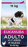 Eukanuba Alimento seco para perros adultos de razas medianas con pollo 15...