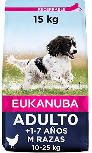 Eukanuba Alimento seco para perros adultos de razas medianas con pollo 15 kg