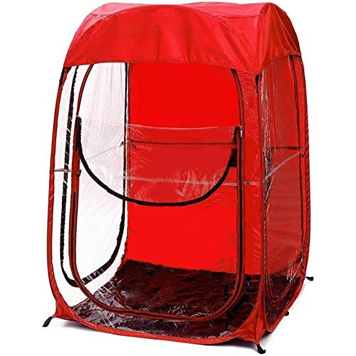 ZYF Tent Outdoor Sport Events Watching Tent Double Sun Shelte Lightweight Portable Canopy,Red